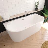 Vasca rettangolare Torino bianco 170 x 80 cm SANYCCES