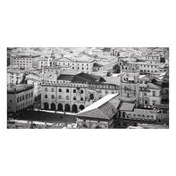 Quadro su tela Bologna Vista B&W 70x140 cm