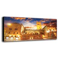 Quadro su tela Bologna Piazza 190x90 cm