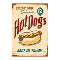 Quadro su tela Hot Dogs 24x35 cm