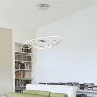 Lampadario Sofia bianco, in acrilico, diam. 53.5 cm,  LED 1 luce