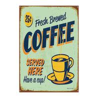 Quadro su tela Coffee Blu 24x35 cm