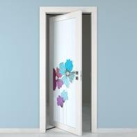 Porta rototraslante Eden Vetrata larice bianco L 80 x H 210 cm sinistra