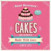Quadro su tela Pink Cakes 30x30 cm