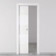 Porta scorrevole a scomparsa Melangè bianco L 80 x H 210 cm sinistra