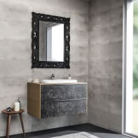 Mobile bagno Decor acero bianco L 85 cm
