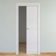 Porta scorrevole a scomparsa Pigalle palissandro bianco L 60 x H 210 cm reversibile