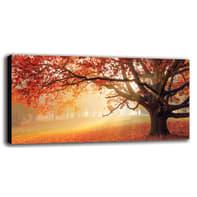 Quadro su tela Red Forest 60x120 cm