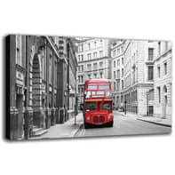Quadro su tela Red Bus 90x135 cm