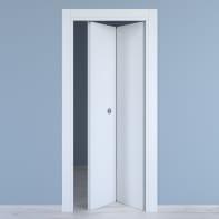 Porta pieghevole Renoir bianco venato L 70 x H 210 cm destra