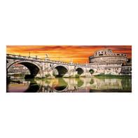 Quadro su tela Roma Castel Sant'Angelo 40x125 cm