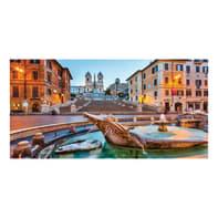 Quadro su tela Roma Piazza Di Spagna 60x120 cm