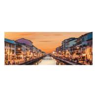 Quadro su tela Milano naviglio 40x125 cm