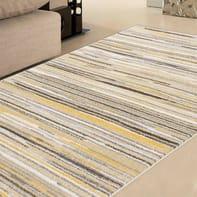 Tappeto Soave stripe , crema, 133x190 cm