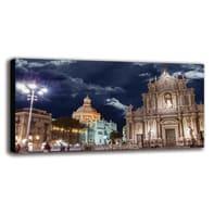 Quadro su tela Catania Duomo 140x70 cm