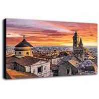 Quadro su tela Bergamo Veduta 135x90 cm