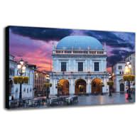 Quadro su tela Brescia Loggia 135x90 cm
