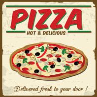 Quadro su tela White pizza 40x40 cm
