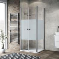 Porta doccia 80 x 80 cm, H 200 cm in vetro, spessore 6 mm serigrafato bianco