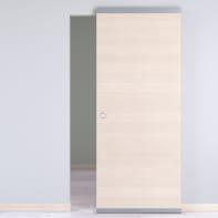 Porta scorrevole con binario esterno Lucad Easy in legno laminato Binario nascosto L 91 x H 221 cm