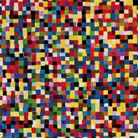 Quadro dipinto a mano Quadrati 120x120 cm