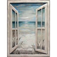 Quadro su tela Finestra Mare1 120x90 cm