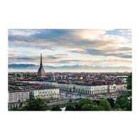 Quadro su tela Torino veduta 80x135 cm