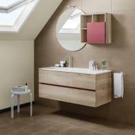 Mobile bagno Share olmo e bordeaux L 121 cm