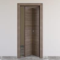 Porta pieghevole Stylish grigio marrone L 80 x H 210 cm destra