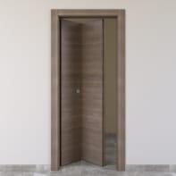 Porta pieghevole Stylish grigio marrone L 80 x H 210 cm sinistra