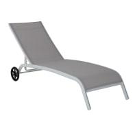 Lettino senza cuscino NATERIAL Marbella in alluminio