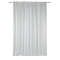 Tenda INSPIRE Jara bianco fettuccia e passanti 300 x 280 cm