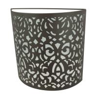 Applique bohème Abra ruggine, in metallo, 23x8.5 cm, INSPIRE