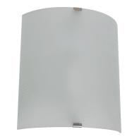 Applique classico WL12068 WH bianco, in vetro, 19x22 cm,