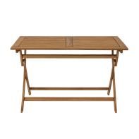 Tavolo da giardino rettangolare Porto NATERIAL con piano in legno L 70 x P 120 cm