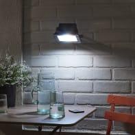 Proiettore LED integrato Yonkers in alluminio, antracite, 20W 1300LM IP65 INSPIRE
