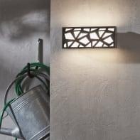 Applique Mozaic LED integrato in alluminio, grigio, 9.5W 1000LM IP54 INSPIRE