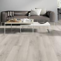Pavimento laminato Alpin Oak Sp 8 mm bianco