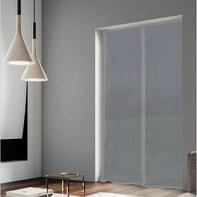 Tenda zanzariera magnetica a pannelli L 120 x H 240 cm grigio