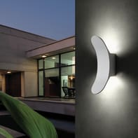 Applique Wanda LED integrato in alluminio, bianco, 8W 600LM IP54