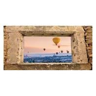 Quadro su tela Finestra Cappadocia 70x140 cm