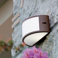 Applique Umbe rugginein alluminio, marrone e bianco, E27 MAX60W IP54