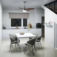 Ventilatore da soffitto con luce Maurice ciliegio/faggio
