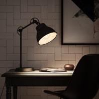 Lampada da scrivania Vintage Mezzo nero , in metallo, INSPIRE