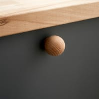 Pomolo per mobile in legno trasparente naturale
