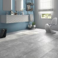 Pavimento pvc flottante clic+ Marble Sp 5 mm grigio / argento