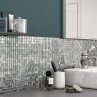 Mosaico Ice Mirror H 29.7 x L 29.7 cm grigio