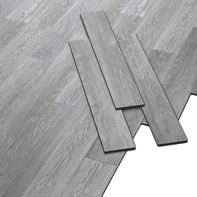 Pavimento pvc flottante clic+ Mid grey Sp 4.2 mm grigio / argento