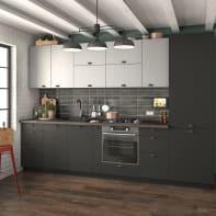 Cucina in kit  Soho Detroit grigio L 255 cm