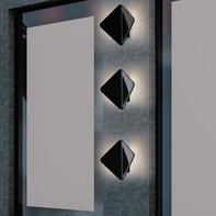 Applique Kite LED integrato in alluminio, nero, 40W 550LM IP54